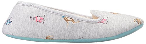 Marl Slipper Women's Chic Grey Joules Dogs Dreama SHIqZU76w