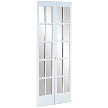 Pinecroft 852720wt Traditional Divided Glass French Bifold Intior Wood Door 24 X 80 Prefinished White