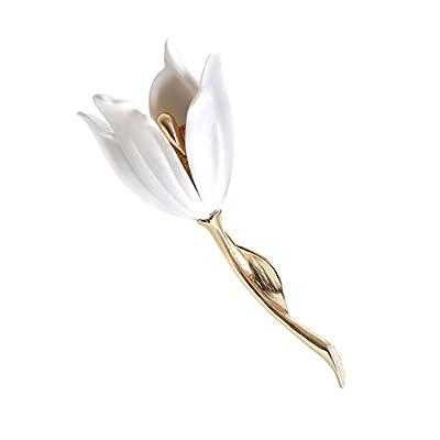 Discount Xinshunjin Flower Brooch Pin White Graceful for Women Michelia Alba for cheap