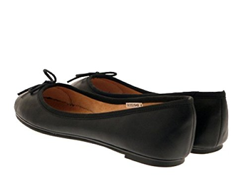 LADIES 3 black BALLET GIRLS SCHOOL MATT WOMENS SHOES NEW LEATHER PATENT FLAT SIZE 8 matt PUMPS EB6qHwY78W