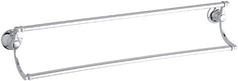 KOHLER K-11413-CP Bancroft 24-Inch Double Towel Bar, Polished Chrome - Traditional Double Towel