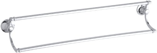KOHLER K-11413-CP Bancroft 24-Inch Double Towel Bar, Polished Chrome by Kohler