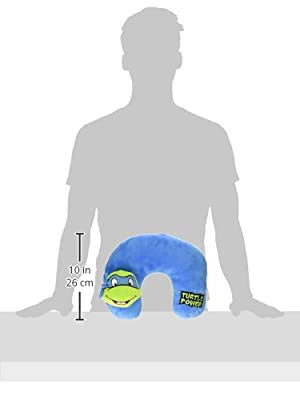 Nickelodeon Teenage Mutant Ninja Turtles Plush 3D Character Travel Pillow