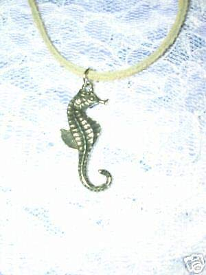 Coral Reef Seahorse Pendant 16 TAN Necklace