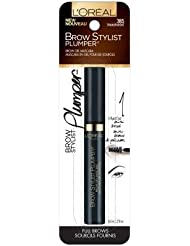 L'Oreal Paris Cosmetics Brow Stylist Plumper Brow Gel Mascara - Transparent (Pack of 2)