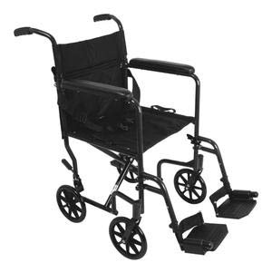 (ProBasics Aluminum Transport Chair with Swing Away Foot Rests, 19 Inch, Black)