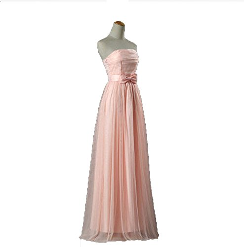 Promotion Listing Blush Bridesmaid Dresses Floor Length Prom LC250M,p1 Strapless 12,2]()