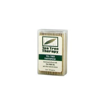 (Tea Tree Therapy - Tea Tree & Menthol Toothpicks (100 count) (2-Pack))