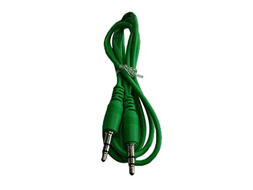 niceeshop(TM) 1m Green 3.5MM Male To 3.5MM Male Auxiliary Stereo Audio Cable for iPod MP3 MP4 CD