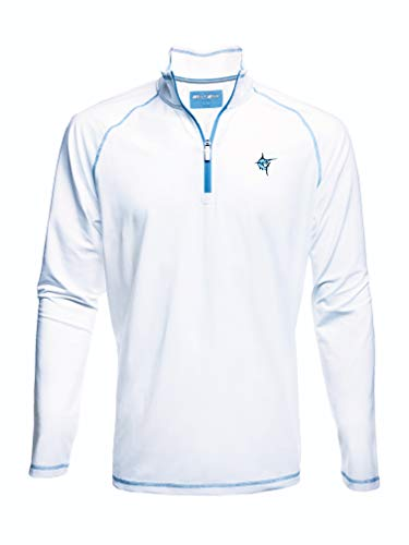 White Water New Harbor Performance 1/4 Zip Pullover - White XL ()