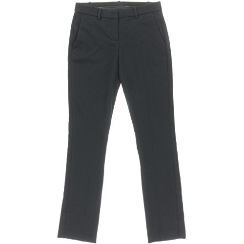 Theory Womens Izelle B Crepe Straight Leg Dress Pants Navy (Crepe Straight Leg Pants)