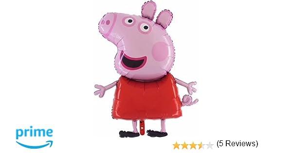 Peppa Pig Globo gigante de papel tamaño gigante de 37 pulgadas - Globos festivos para niños: Amazon.es: Juguetes y juegos