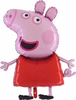 37 Inch Giant Jumbo Size Peppa Pig Character Foil Balloon - Kids Party Balloons -