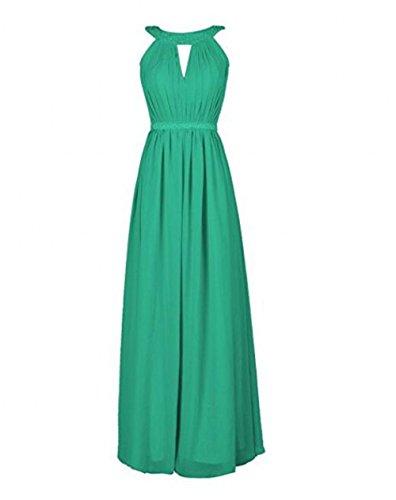 Bowith Robes De Demoiselle D'honneur De Perles De Femmes Longues Robes De Bal Vert