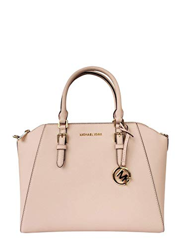 Michael Kors Large Ciara Saffiano leather Satchel (Ballet) (Best Perfumes For Over 50)