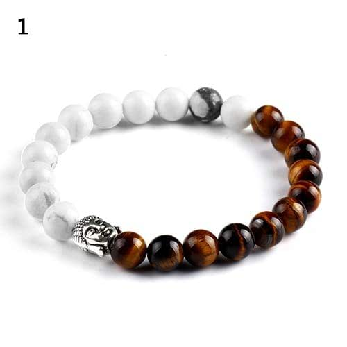 Amazon.com: Women Men Buddha Bicolor Loose Elastic Beaded