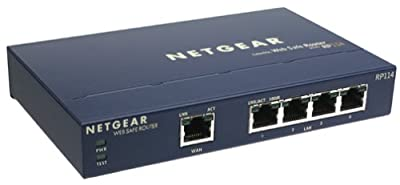 NETGEAR WebSafe RP114 DSL/Cable Router & 4-Port 10/100Mbps Fast Ethernet Switch