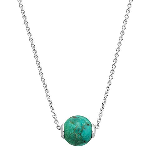 Silpada 'the World is Yours' 6 ct Compressed Stabilized Turquoise Pendant Necklace in Sterling Silver ()