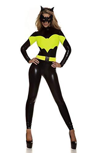 HIMFL Adult Catwoman Costume Catsuit Fancy Dress Costume Jumpsuit Full Outfit Black
