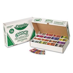 Classpack Regular Crayons, 16 Colors, 800/bx By: Crayola by Office Realm
