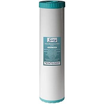 iSpring FM25B - Iron Manganese Reducing Replacement Water Filter, High Capacity 4.5