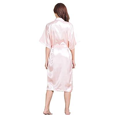 GL&G bathrobes men and women lovers pajamas silk bathrobes Japanese kimono comfort breathable Pink pajamas