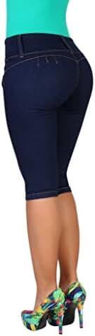 Curvify Women's Butt-Lifting Jeans Capris | High-Rise Waist 764