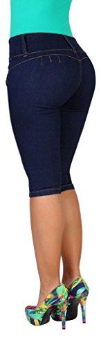 Curvify Women's Butt-Lifting Jeans Capris | High-Rise Waist - High Waist Capri