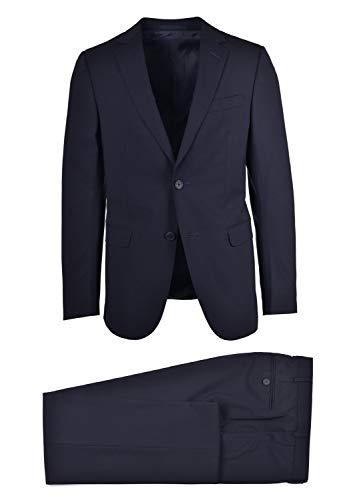 Z Zenga Mens Navy Blue Wool Blend Two Piece Suit Sz IT48/ - Zenga Suit