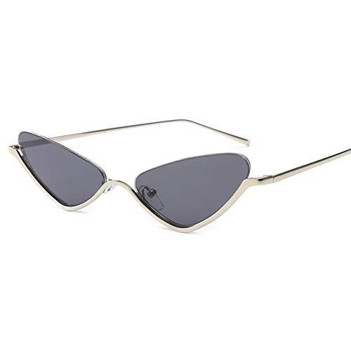 Retro Cat Eye Sunglasses Women Yellow Retro Fashion Sunglasses Pink Vintage Sunglasses Red Dames sonnenbrille - (Lenses Color: Gray) (Retro Sonnenbrille Damen)