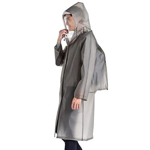 Sección Portátiles Moda Mujeres Larga Impermeable Impermeables Outdoor Gray1 Aire Libre Adultos Gabardinas Huixin Poncho Senderismo Y Transparente 7fE4TnZ