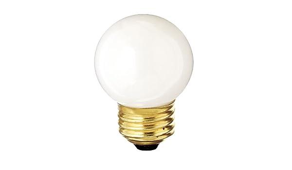 Clear Satco S3839 120V Medium Base 40-Watt G16.5 Light Bulb