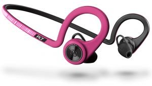 Plantronics BackBeat FIT Wireless Bluetooth Headphones - Waterproof Earbuds with On-Ear Controls for Running and Workout, Fuchsia