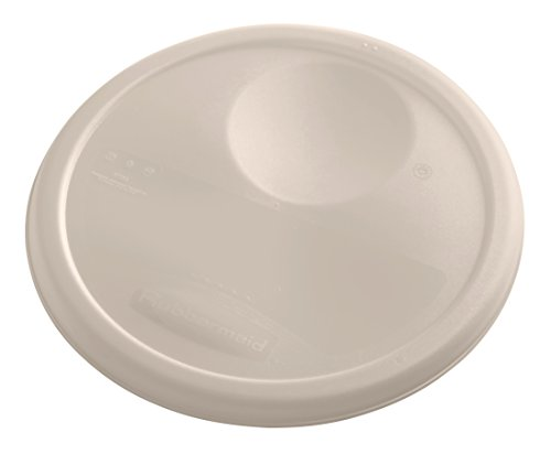 Rubbermaid Commercial Products 1980385 Rubbermaid Commercial Plastic Food Storage Container Lid, Round, Brown, 8 Quart