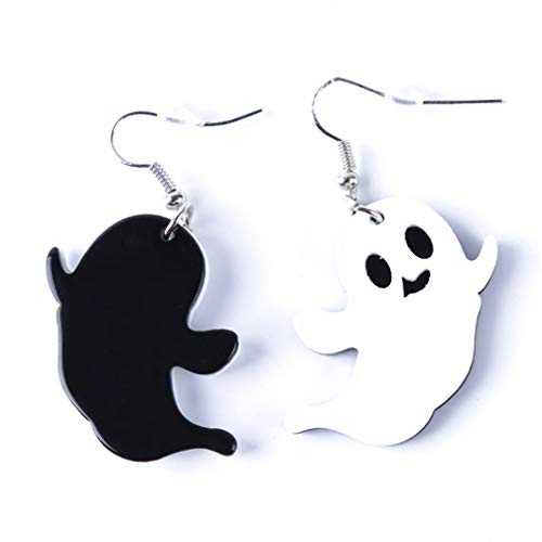 SONGLIN Halloween Ghost Pumpkin Monster Pendant Earrings Acrylic Jewelry for Women Girls Accessories ()
