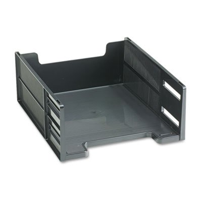 Capacity Tray High Letter (High-Capacity Stackable Tray, Letter, Front Loading, Black, Sold as 1 Each)