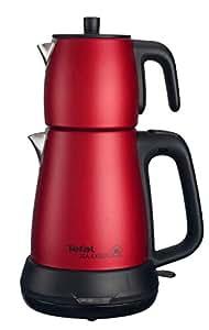 Tefal BJ505 Tea Expert Çelik Demlikli Çay Makinesi, Kırmızı