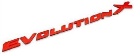Evolution X Trunk Emblem Rear Back Badge Decal Sticker For MITSUBISHI Lancer