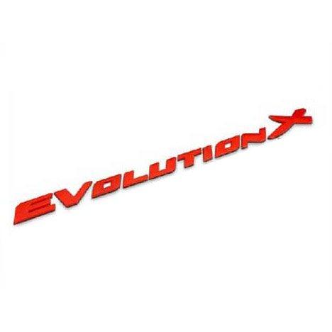 B124-R Car Chromed Emblem Badge Decal Sticker Back Logo Red Evolution X For MITSUBISHI Lancer