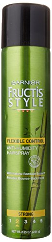 - Garnier Fructis Style Flexible Control Anti-Humidity Hairspray, Strong Flexible Hold, 8.25 Ounce