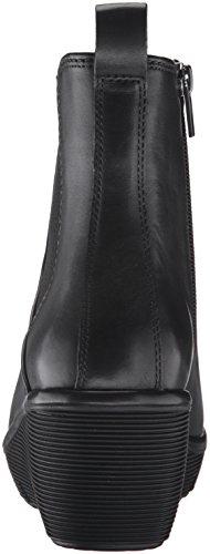 Clarks Women's Clarene Surf Boot, Black, 8.5 M US Black Leather