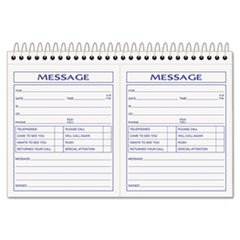 Tops 4007 Phone Message Book, 2 Calls/Pg, 200 Sets,8-1/2