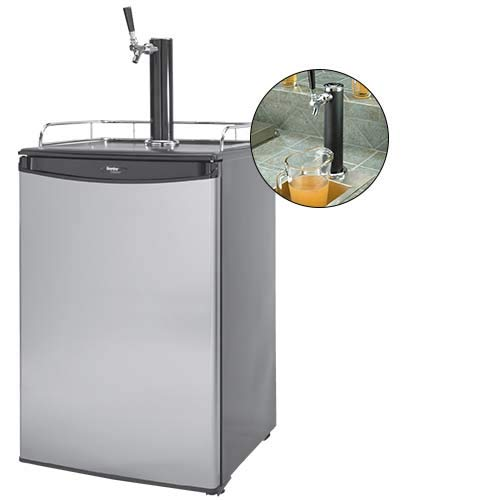 Cal Flame 089245002666 Beer Tap Refrigerator, Stainless Steel