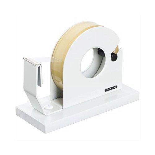 生活日用品 (まとめ買い) テープカッター 大巻小巻両用 65×150×110mm 白 No.40 1台 【×3セット】 B074JSPJCN