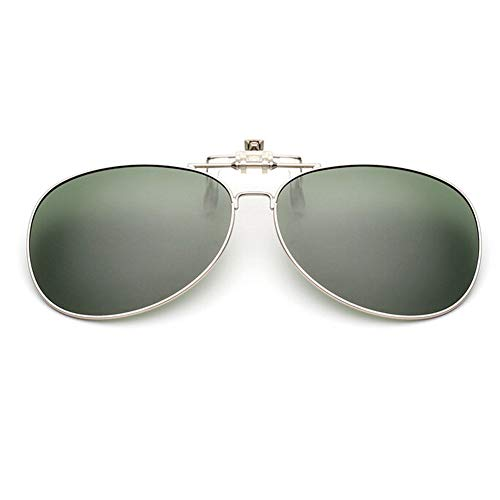 Protection Mixte Flip Aviator lunettes on de Foncé UV400 lunettes Vert Polarisation Lentille Pêche soleil Clip Conduite Hzjundasi Des up pour l'extérieur xnf8wPYq6