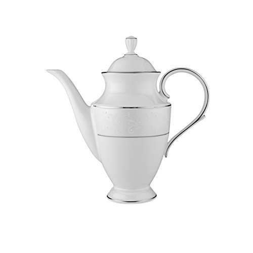 Platinum Coffee Pot - Lenox Opal Innocence Coffeepot