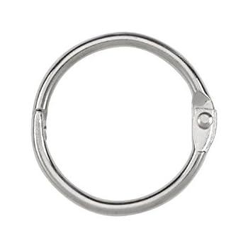ACCO Loose Leaf Binder Rings, 1 Inch Capacity, Silver, 100 Rings/Box (72202)