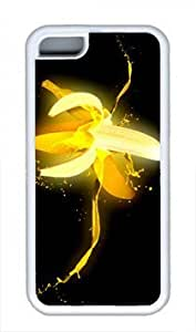 MMZ DIY PHONE CASEBanana Rubber(TPU) white Case for Masterpiece Limited Design iphone 4/4s by Cases & Mousepads