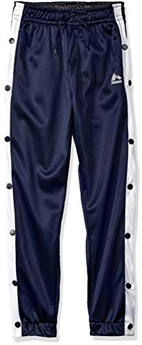 (RBX Boys' Big Defender Tricot Jogger, Midnight Navy/White Full snap 8)