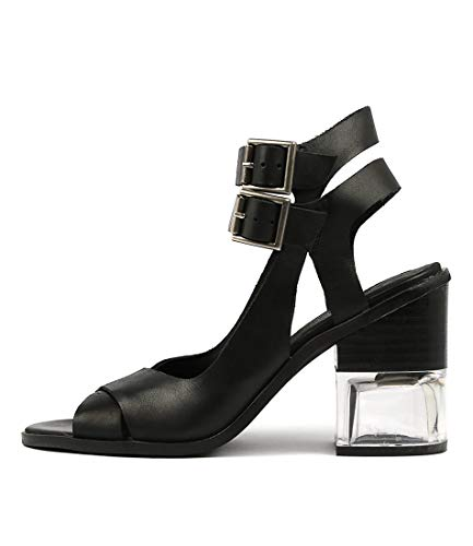 SILENT D Cena Black Womens Shoes High Heels Sandals Black Leather